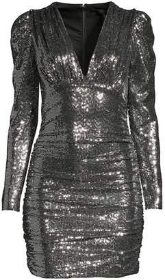 BCBGMAXAZRIA Ruched Mini Bodycon Dress