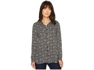 Stetson 1311 Paisley Lattice Print Top Women's Long Sleeve Pullover