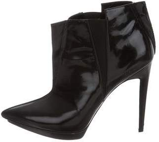 Pierre Hardy Leather Pointed-Toe Ankle Boots