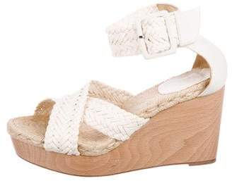 Hermes Braided Espadrille Wedges