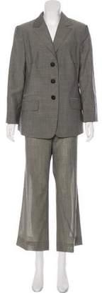 Akris Structured Wool Pantsuit