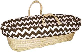 Baby Doll Bedding Chevron Moses Basket