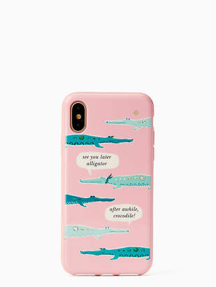 Kate Spade jeweled alligator iPhone X case
