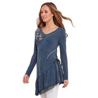Joe Browns Navy Embroidered Rock Chick Tunic