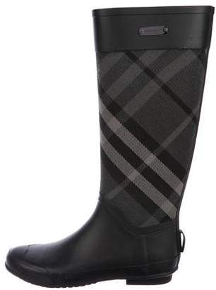 Burberry Beat Check Rain Boots