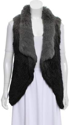 Yves Salomon Knit Rabbit Fur Vest