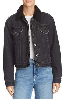 Pistola Tori Sherpa Fleece-Lined Denim Jacket