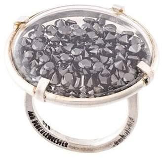 Ann Demeulemeester black diamond ring