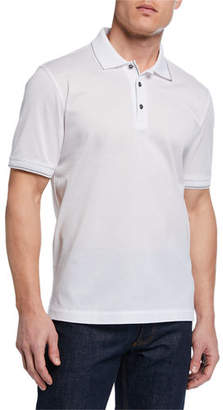 f8dbbc9db1dc Brioni Men s Tipped Pique Polo Shirt