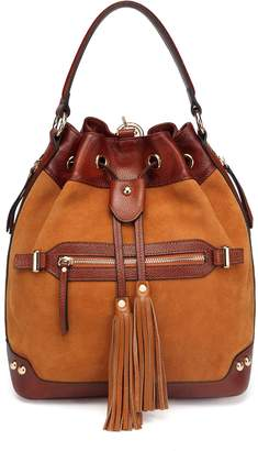 Vicenzo Leather Sonia Suede Leather Bucket Bag/ Backpack