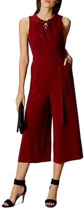 KAREN MILLEN Lace-Up Crop Jumpsuit $360 thestylecure.com