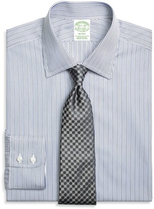 Brooks Brothers Milano Slim-Fit Dress Shirt, Rope Stripe