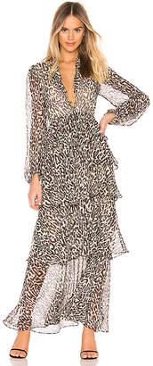 Shona Joy Mariposa Tiered Maxi Dress