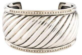 David Yurman Diamond Sculpted Cable Bracelet