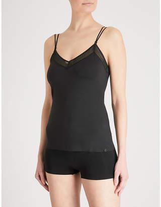 379ac9ca60edc Sloggi S BY Ladies Black Silhouette V-Neck Stretch-Jersey Cami Top