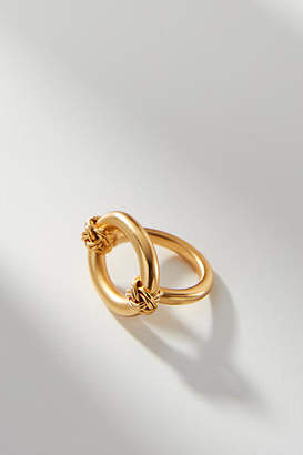 Anthropologie 24K Gold-Plated Knotted Ring
