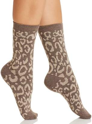 Natori Animal Print Crew Socks