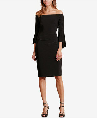 Lauren Ralph Lauren Off-The-Shoulder Sheath Dress $154 thestylecure.com