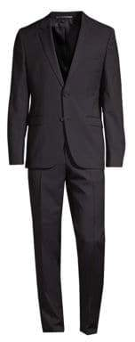 HUGO Astian Textured Moire Wool Suit