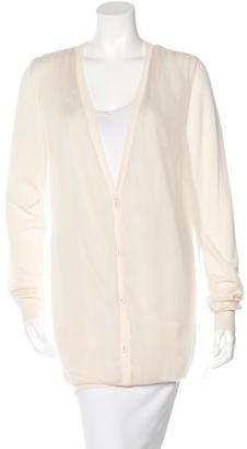 Vera Wang Cashmere & Silk-Blend Cardigan $75 thestylecure.com