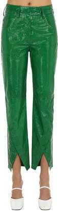 Petar Petrov Straight Leg Patent Leather Pants