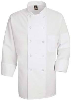 Chef Designs Men's Ten Pearl Button Polyester Chef Coat