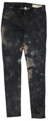 Rag & Bone Printed Low-Rise Jeans