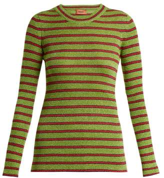 Missoni Striped Long Sleeved Knit Top - Womens - Green