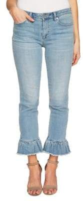 CeCe Cropped Ruffle Jeans