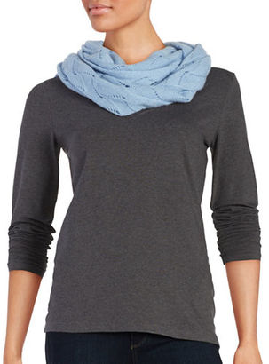 Lord & Taylor Pointelle Cashmere Scarf $125 thestylecure.com