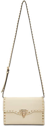 Valentino Ivory Garavani Medium Rockstud Flap Bag