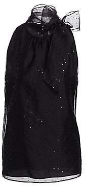9ced7a1b6f970 St. John Women s Organza Silk Sequin Halter Top
