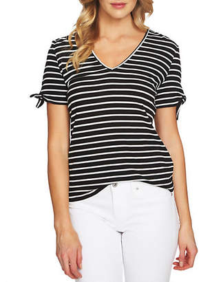 CeCe Striped Bow Top