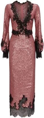Costarellos Sequinned Midi Dress