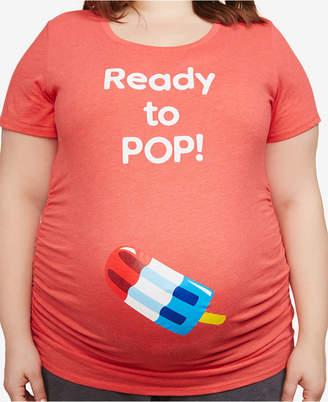 Motherhood Maternity Plus Size Graphic T-Shirt