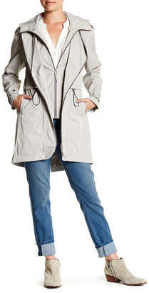 Soia & Kyo Zip Up Hooded Trench Coat $310 thestylecure.com