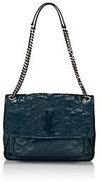 Saint Laurent Women's Niki Medium Leather Shoulder Bag - Turquoise