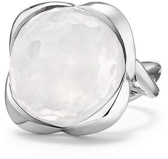 David Yurman Continuance Ring with Moon Milky Quartz, 20mm