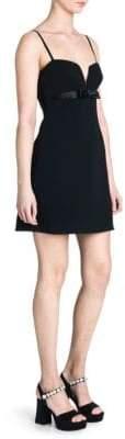 Miu Miu Cady Bow Mini Dress