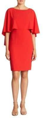 St. John Sequin Cape Sheath Dress