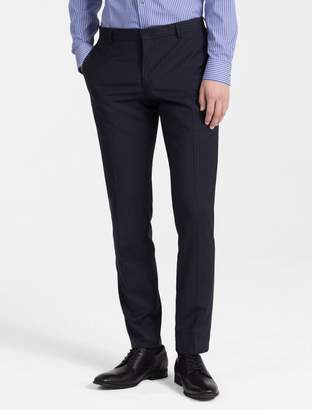 Calvin Klein slim fit virgin wool pinstripe pants