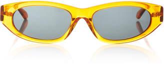 Karen Walker Paradise Lost Oval-Frame Acetate Sunglasses