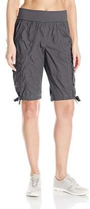 "Calvin Klein Women's Jersey Rollover Waistband Cargo Bermuda Short 12"" Inseam"