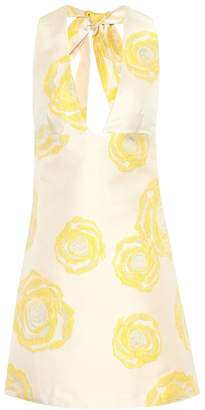 Ganni Turenne floral-jacquard minidress