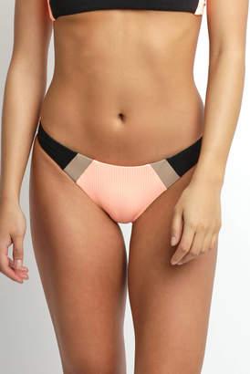 Pilyq Sandstone Colorblock Hipster Bikini Bottoms