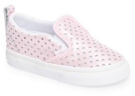 Infant Girl's Vans Classic Perforated Slip-On Sneaker $34.95 thestylecure.com