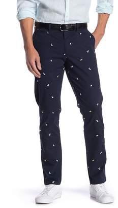 "Original Penguin Lemon Embroidered Slim Fit Pants - 32\"" Inseam"