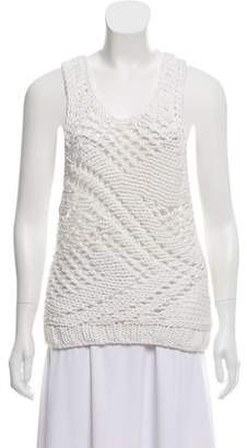 Helmut Lang Open Knit Sleeveless Top