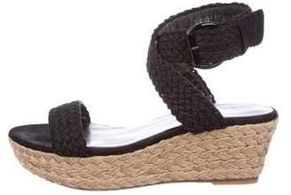 Stuart Weitzman Braided Espadrille Sandals