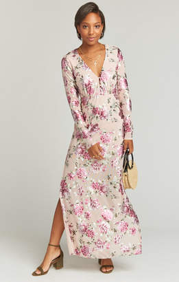 Show Me Your Mumu Carmella Maxi Romper ~ Petal to the Metal